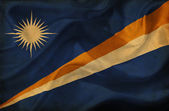 Marshall Islands waving flag — Stock Photo