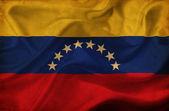 Venezuela waving flag — Stock Photo