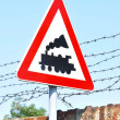Train road sign — Stock Photo