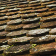 Old roof tiles on old village house — Stock Photo