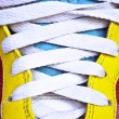Colorful retro sneakers - closeup shot — Stock Photo