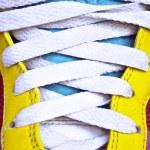 Colorful retro sneakers - closeup shot — Stock Photo