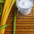 Bamboo and body milk - Spstill life — Stock Photo #9748513