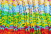 Multicolored wool texture closeup — Stock Photo