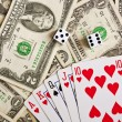 Poker - Royal flash - bad combination — Stock Photo #9771276
