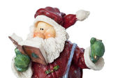 Santa Claus with book of wishes - New Year conceptual image — Stock Photo