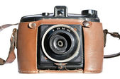 Vintage old film photo-camera — Stock Photo