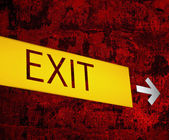 "Retro ""EXIT"" sign background — Stock Photo"