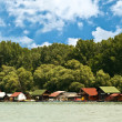 Lake houses — Stock Photo