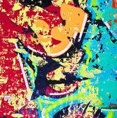Grunge renkli metal arka plan — Stok fotoğraf