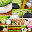 Spa collage - Beautiful conceptual images — Stock Photo