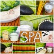 Spa collage - Beautiful conceptual images - Stock Photo
