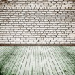 Old room with brick wall — Stock Photo #10192988