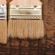 Stock Photo: Brush on wood background texture
