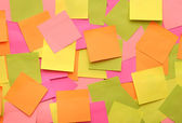 Colorful background with reminder notes. can use for background — Stock Photo