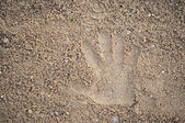 Stampe a mano sulla sabbia — Foto Stock
