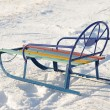Child winter sled — Stock Photo