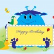 Royalty-Free Stock Vector Image: Happy birthday card, cute animals