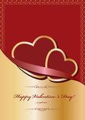 バレンタインの日カードをベクトルします。 — ストックベクタ