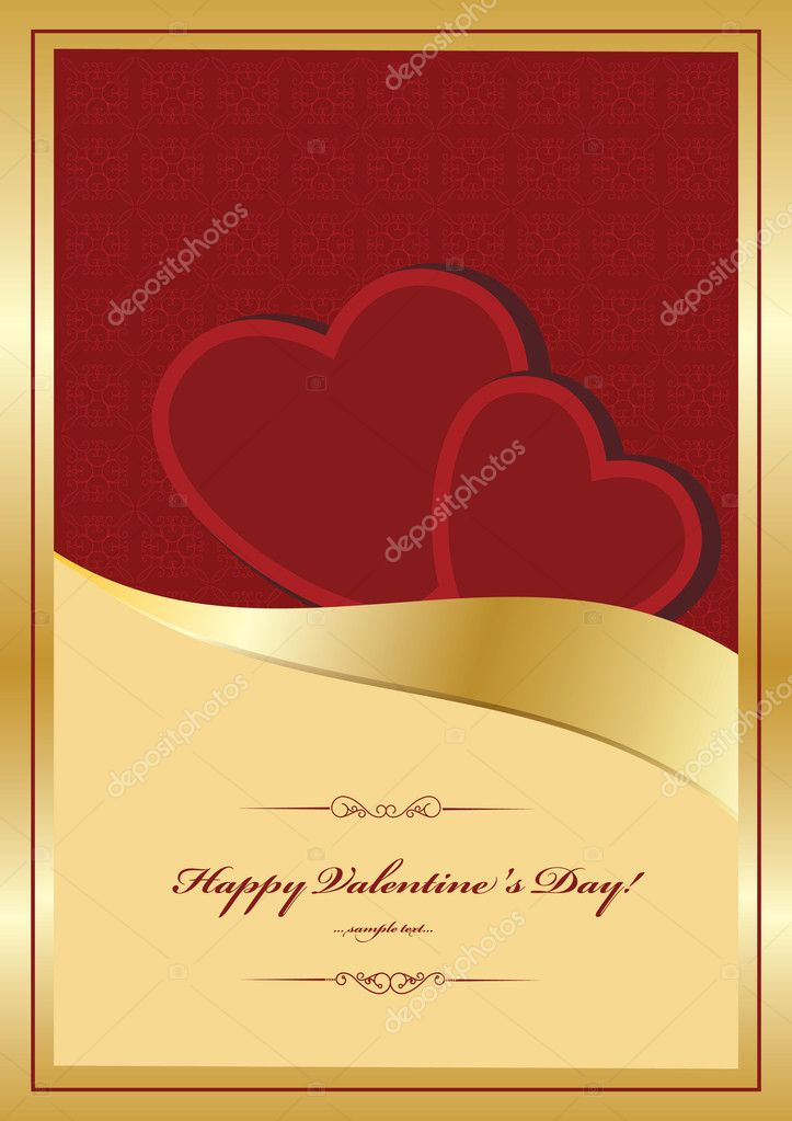 Heart Valentines Day background  — Stock vektor #8225033