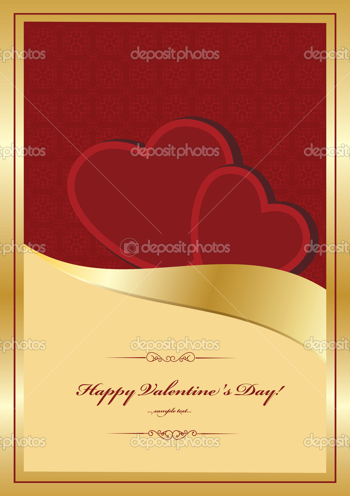 Heart Valentines Day background  — Imagen vectorial #8225033
