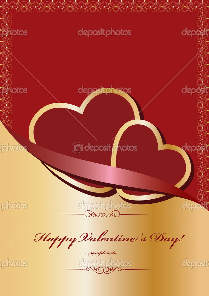 Heart Valentines Day background  — Image vectorielle #8226806