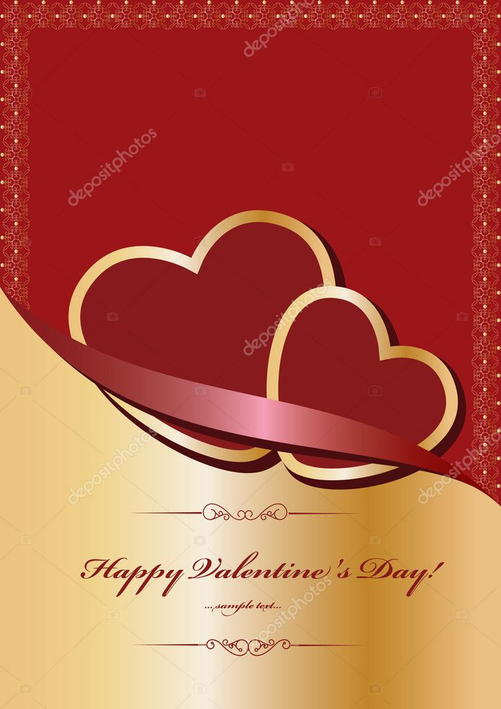 Heart Valentines Day background  — Stockvectorbeeld #8226806