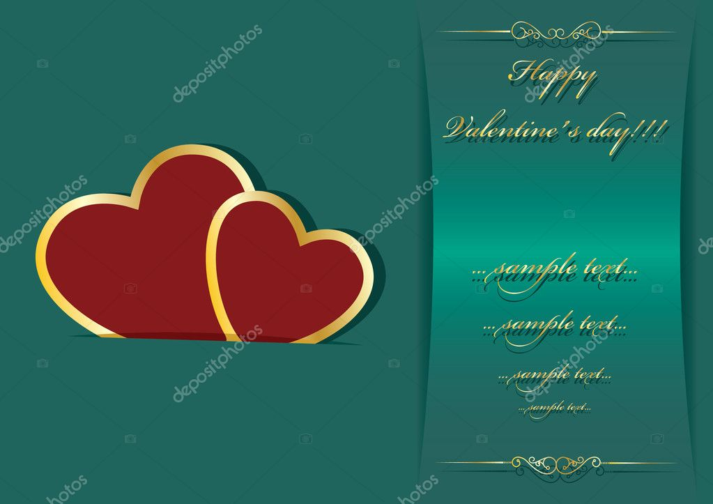 Valentine's day background with place for your text — Stock Vector #8274085