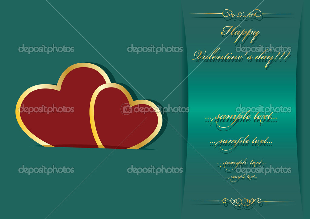 Valentine's day background with place for your text — Imagen vectorial #8274085