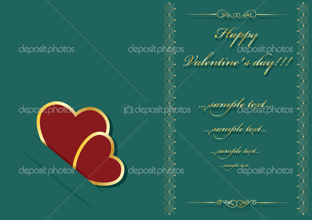 Valentine's day background with place for your text — Stock Vector #8274099