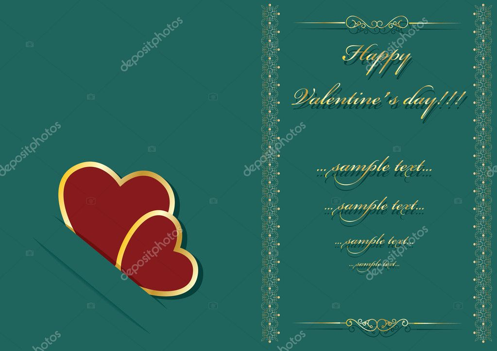 Valentine's day background with place for your text — Image vectorielle #8274099