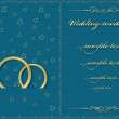 Wedding card. Vector illustration — Stockvectorbeeld