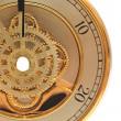 closeup golden clock with gears — Stock Photo #8386628