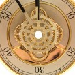 Closeup golden clock with gears — Stock Photo