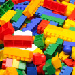Royalty-Free Stock Photo: Pile plastic toy blocks