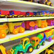 Toy cars in shop — Stock Photo