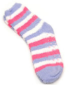 Bright striped socks isolated on white — Foto Stock
