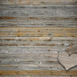 Foto Stock: Two heart on wood background with copy space