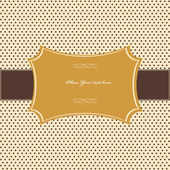 Vintage card, polka dot design — Vector de stock