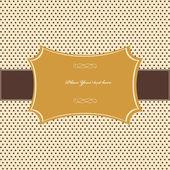 ビンテージ カード、ポルカドットの設計 — ストックベクタ