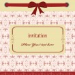 Royalty-Free Stock Imagem Vetorial: Greeting card with ribbons. perfect as invitation or announcemen