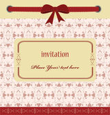 Greeting card with ribbons. perfect as invitation or announcemen — Stock Vector