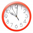Red wall clock — Stock Photo #8986348