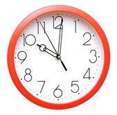 赤い壁時計 — ストック写真