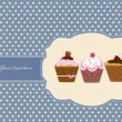 Royalty-Free Stock Imagen vectorial: Cup cake vintage frame design