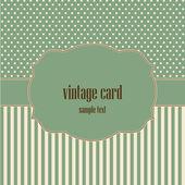 Vintage card, polka dot design. — Vettoriale Stock