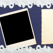 Retro background or greeting card with old photo and lacy border — Stock Photo