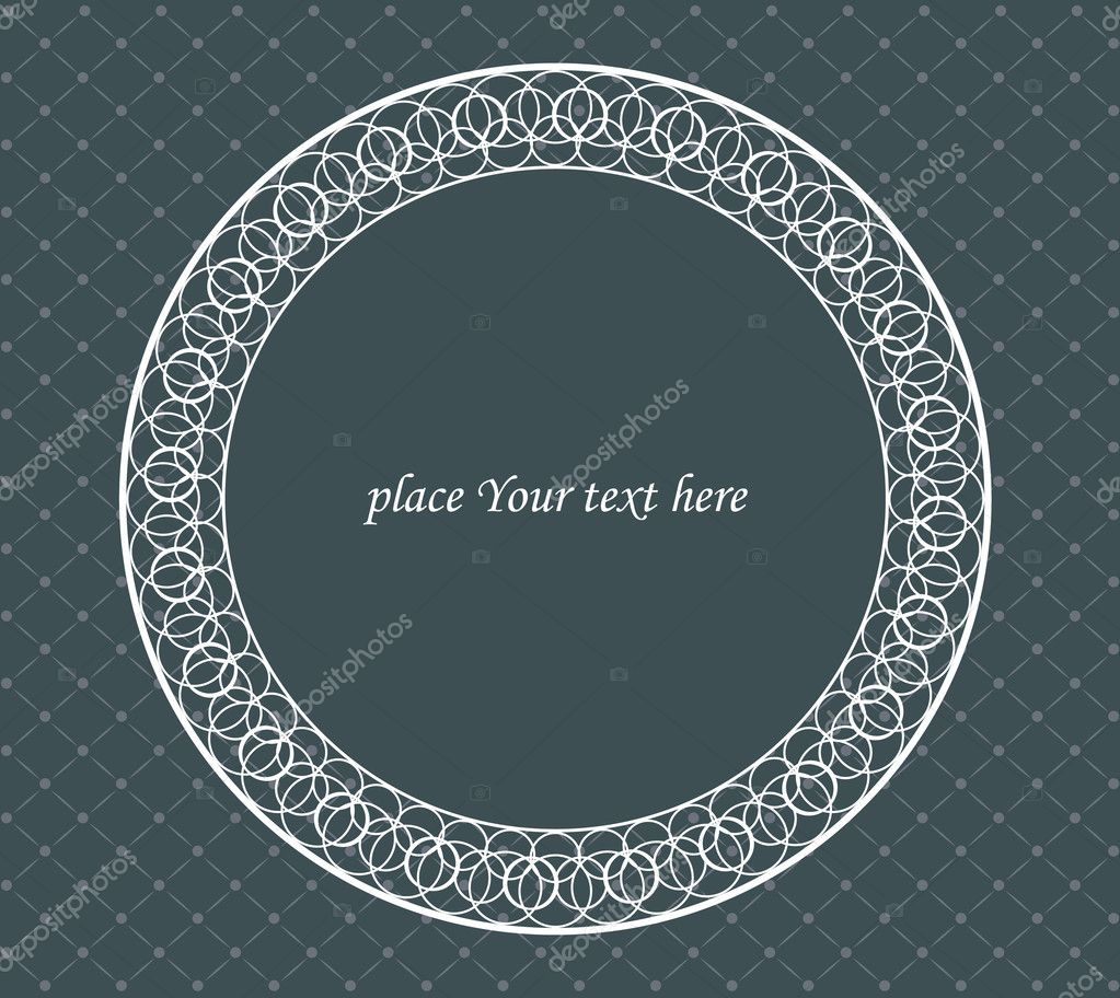 Vintage frame on a dark background  Stock Vector #9300525