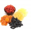 Dried fruits - apricots, cherries, pineapple, sultanas — Stock Photo #9349098