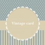 Vector frame, polka dot design — Vector de stock